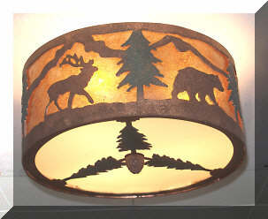 Southwestern and rustic ceiling lights rustic western and lodge style ceiling lights mozeypictures Choice Image